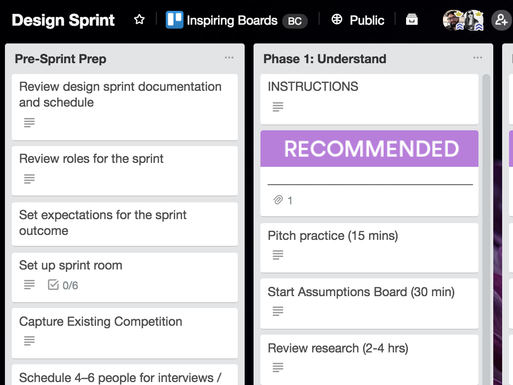 Sprints are used to break a project into multiple phases