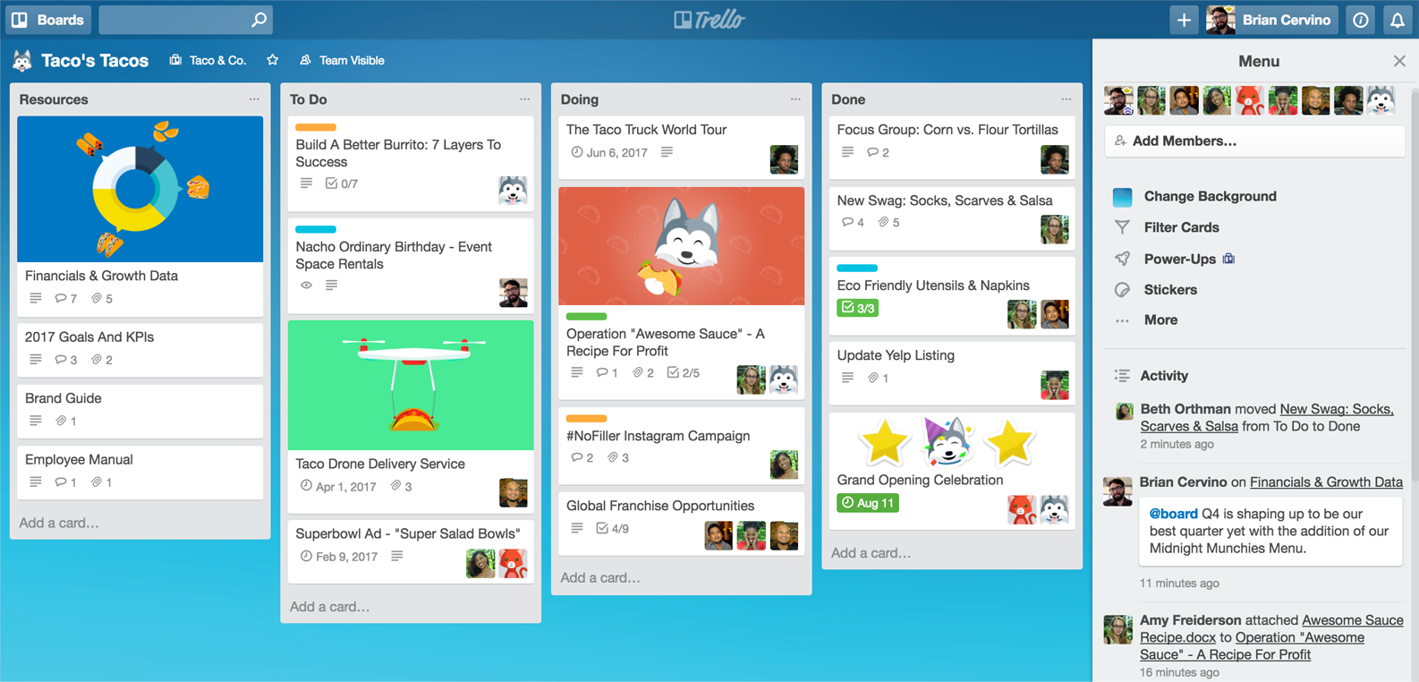 trello how to add people