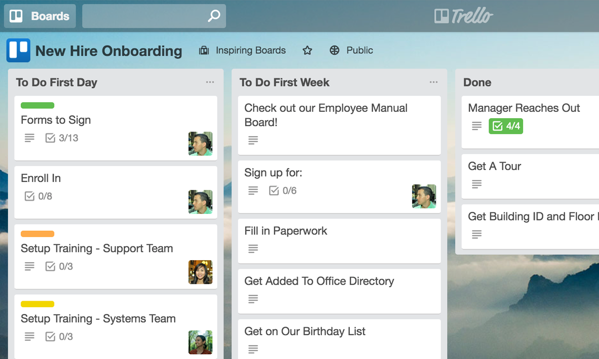 Trello for human resources teams new hire onboarding maxwellsz