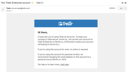 Trello Email